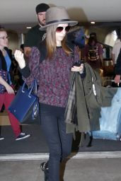 Anna Kendrick - Arriving at LAX Airport, January 2015