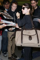 Anna Kendrick - Arriving on a Flight at LAX Airport in Los Angeles, Jan. 2015