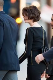 Anne Hathaway - Visits Jimmy Kimmel Live in Los Angeles, January 2015