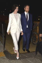 Anne Hathaway with Husband Adam Shulman - Leaving the Sunshine Theater in New York, Jan. 2015
