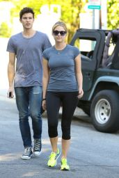 Ashley Benson - Leaving the Gym in Los Angeles, January 2015