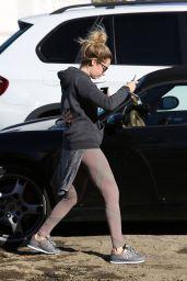 Ashley Tisdale - Leaving Wundabar Pilates in Studio City, January 2015