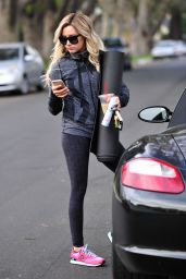 Ashley Tisdale - Leaving Yoga Class in Los Angeles, January 2015
