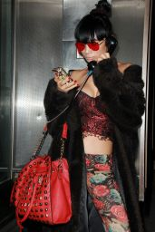Bai Ling - Having Fun at LAX Airport in Los Angeles, January 2015