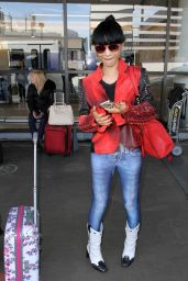 Bai Ling Style - at LAX Airport, January 2015