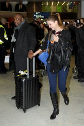 Barbara Palvin Casual Style - at Roissy Airport in Paris, January 2015