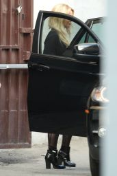 Britney Spears Style - Leaving a Studio in Los Angeles, Jan. 2015