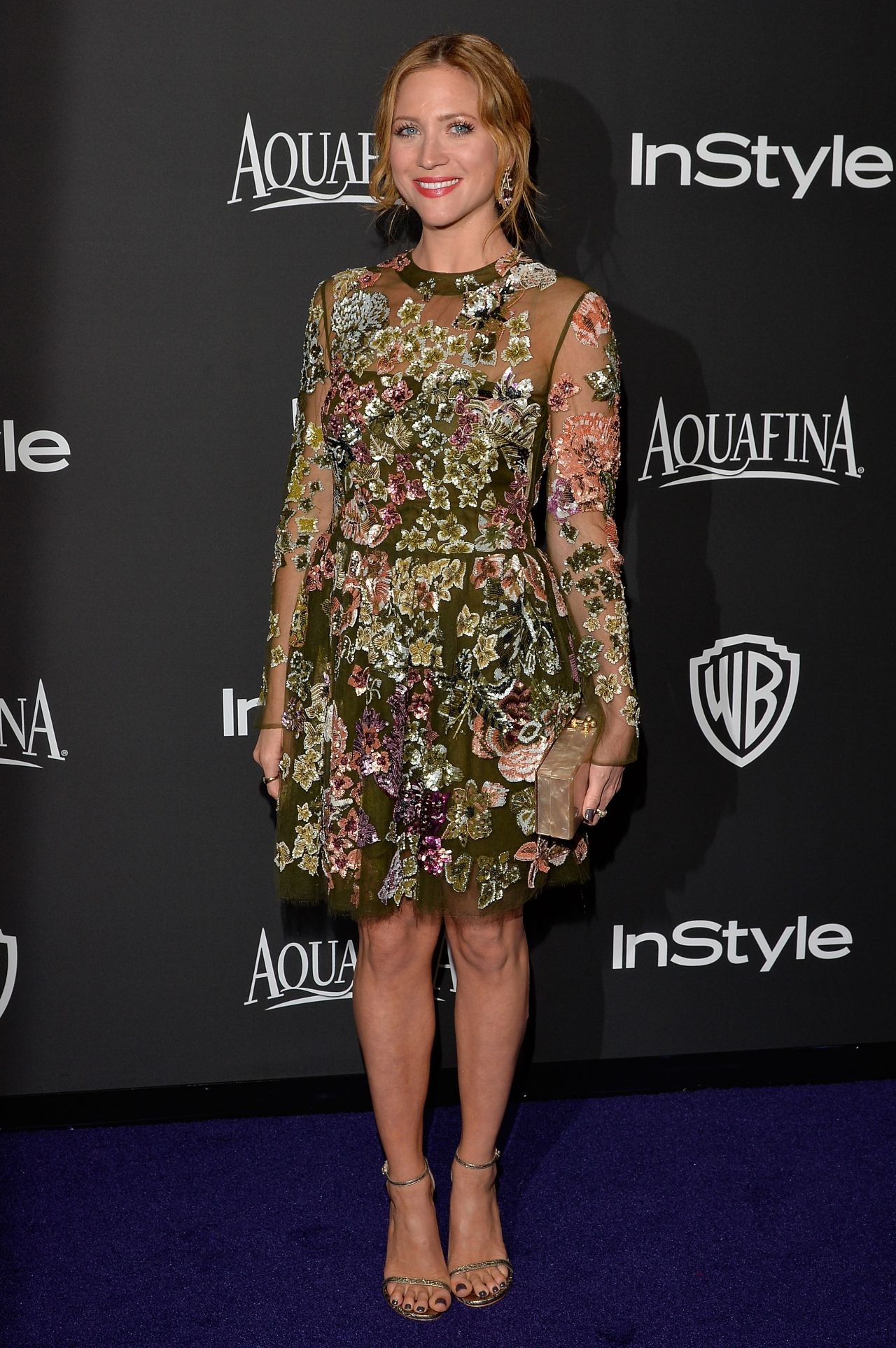 Brittany Snow – InStyle And Warner Bros 2015 Golden Globes Party