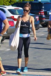Brooke Burke Booty in Tights - Out in Malibu, January 2015