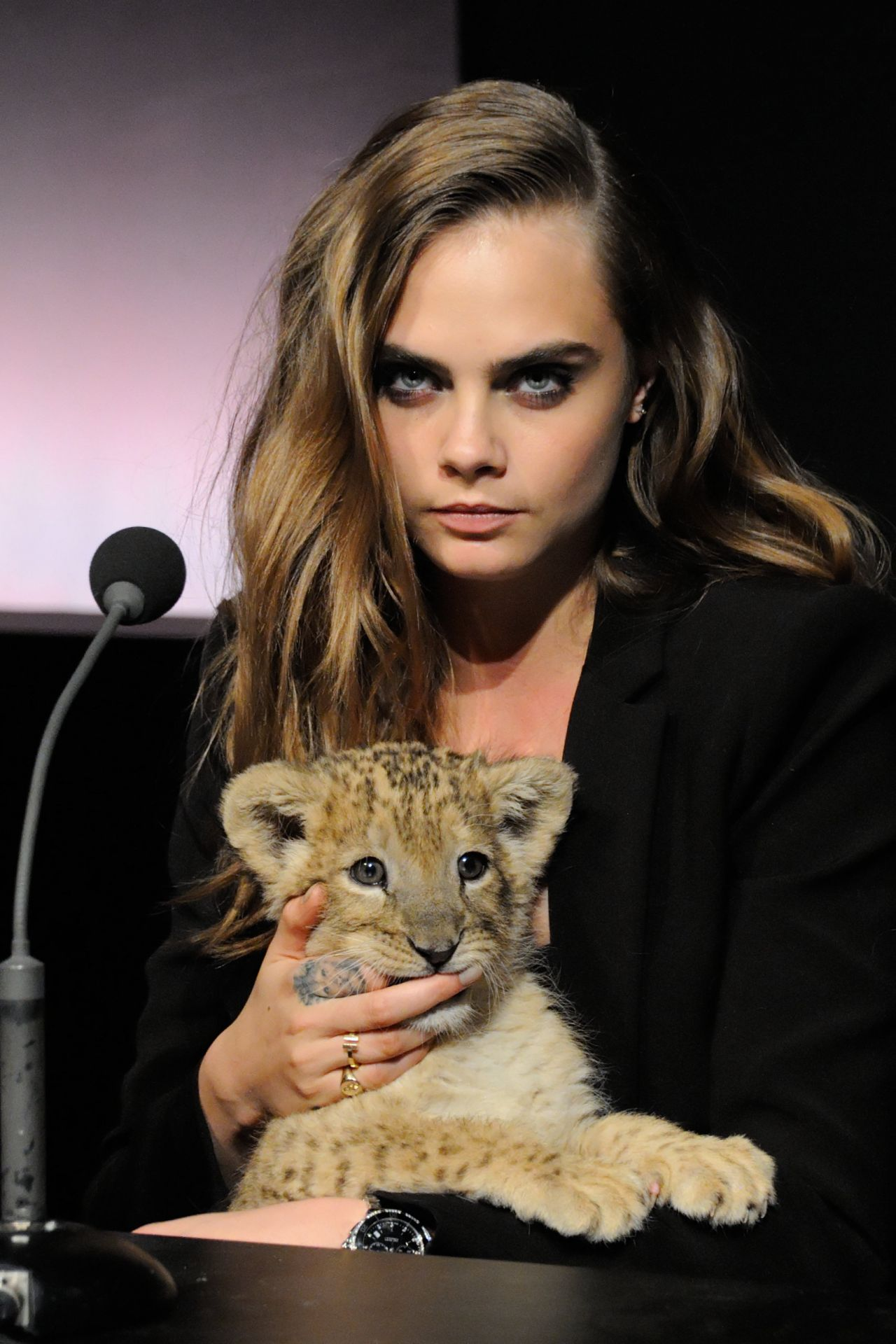 Cara Delevingne - The New Face of Tag Heuer Press Conference in Paris, France