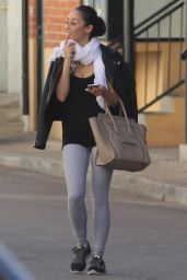 Cara Santana - Leaving the Gym in Los Angeles, January 2015