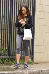 Cara Santana Street Style - at Tracy Anderson Studios in Studio City, Jan. 2015