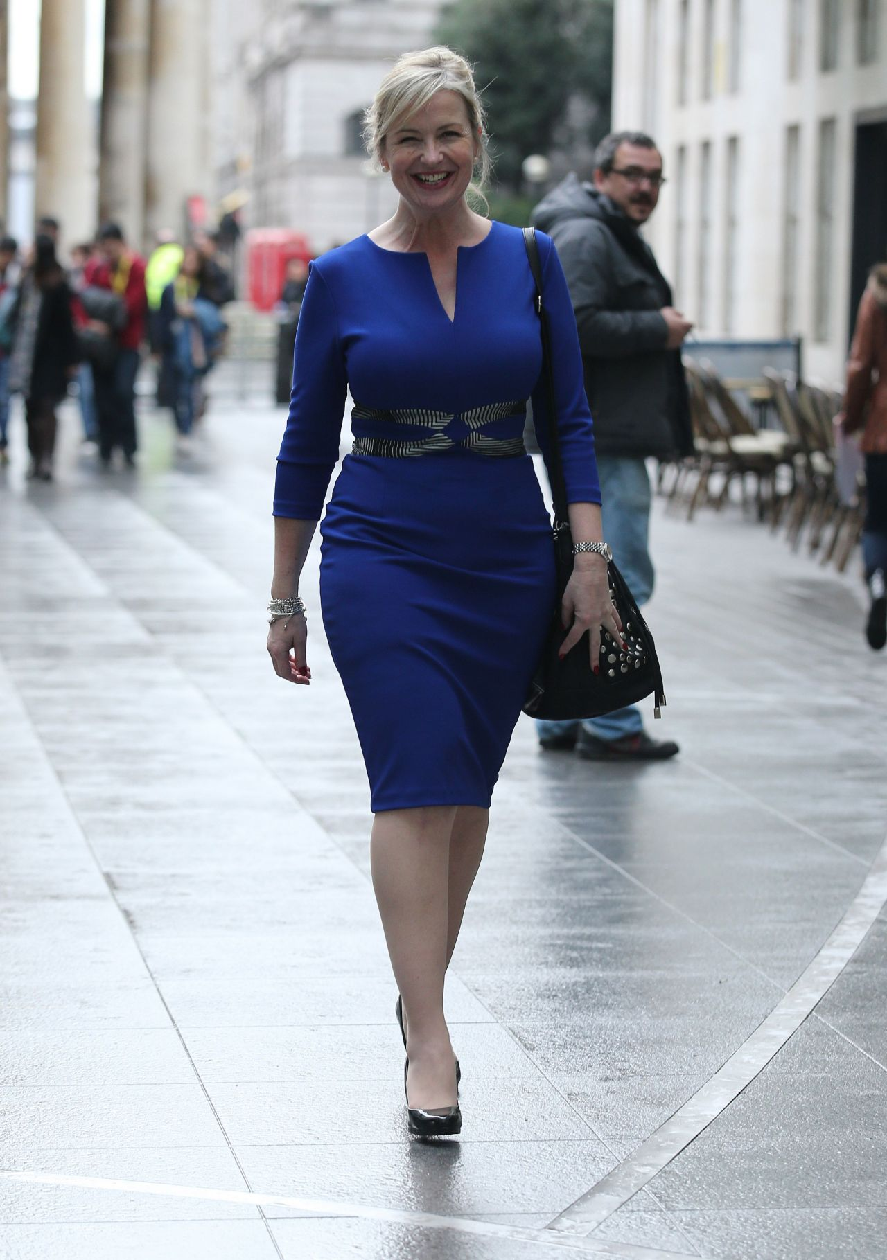 Carol Kirkwood Style - Leaving the BBC Media City, January 2015