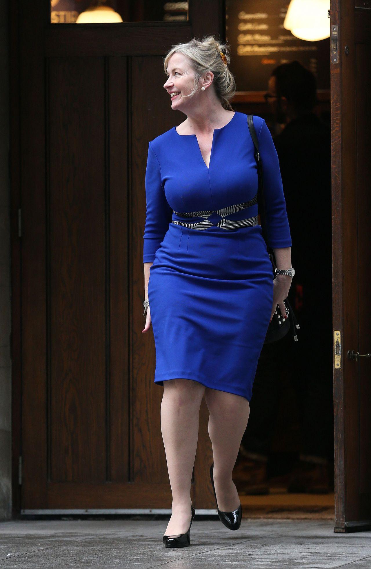 Carol Kirkwood Style - Leaving The Bbc Media City, January 2015-1497