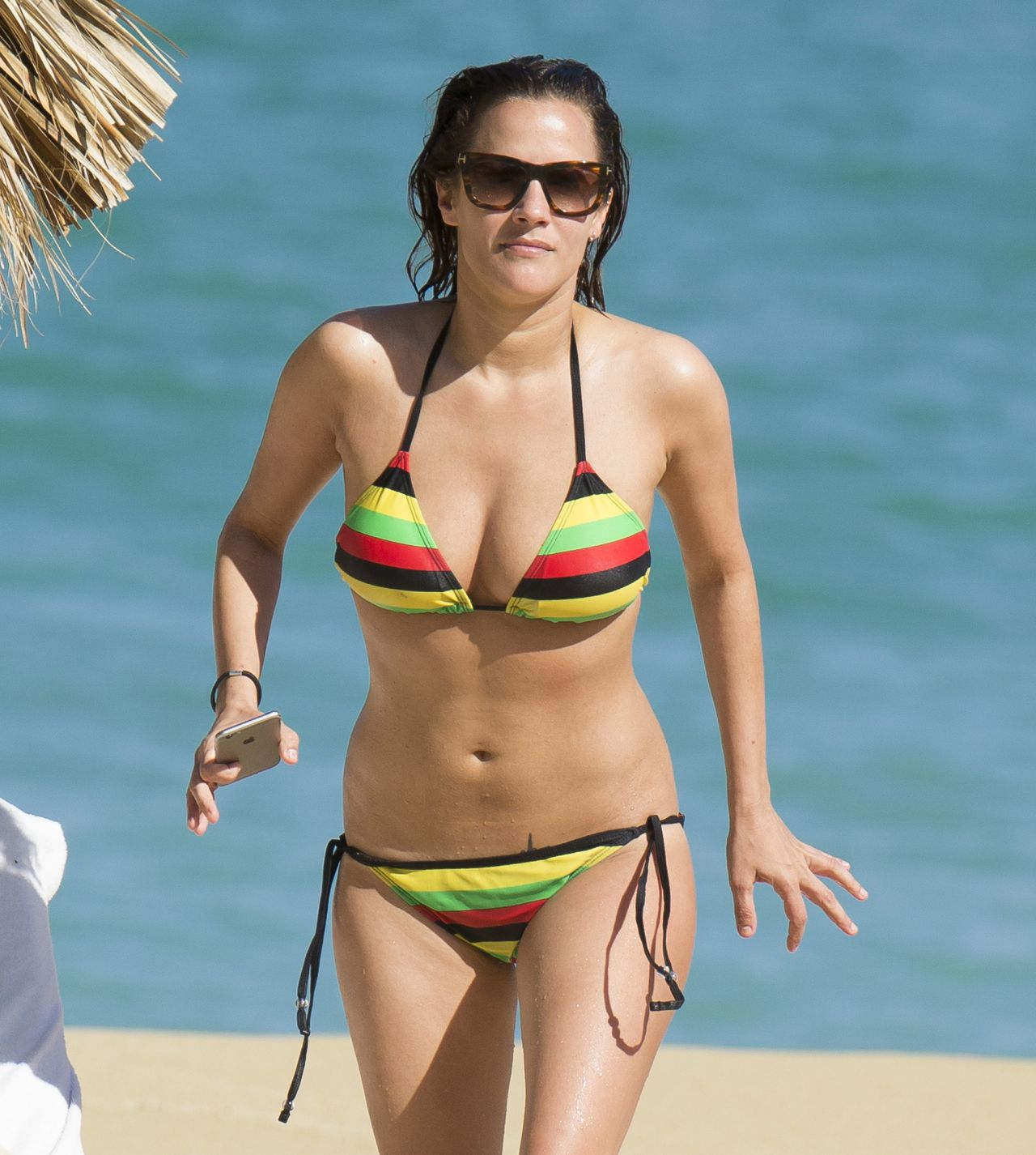 Caroline Flack Bikini Pics - on the Beach in Jamaica - January 2015
