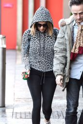 Caroline Flack Booty in Leggings - Outside the Strictly Come Dancing Studio in Birmingham - Jan. 2015