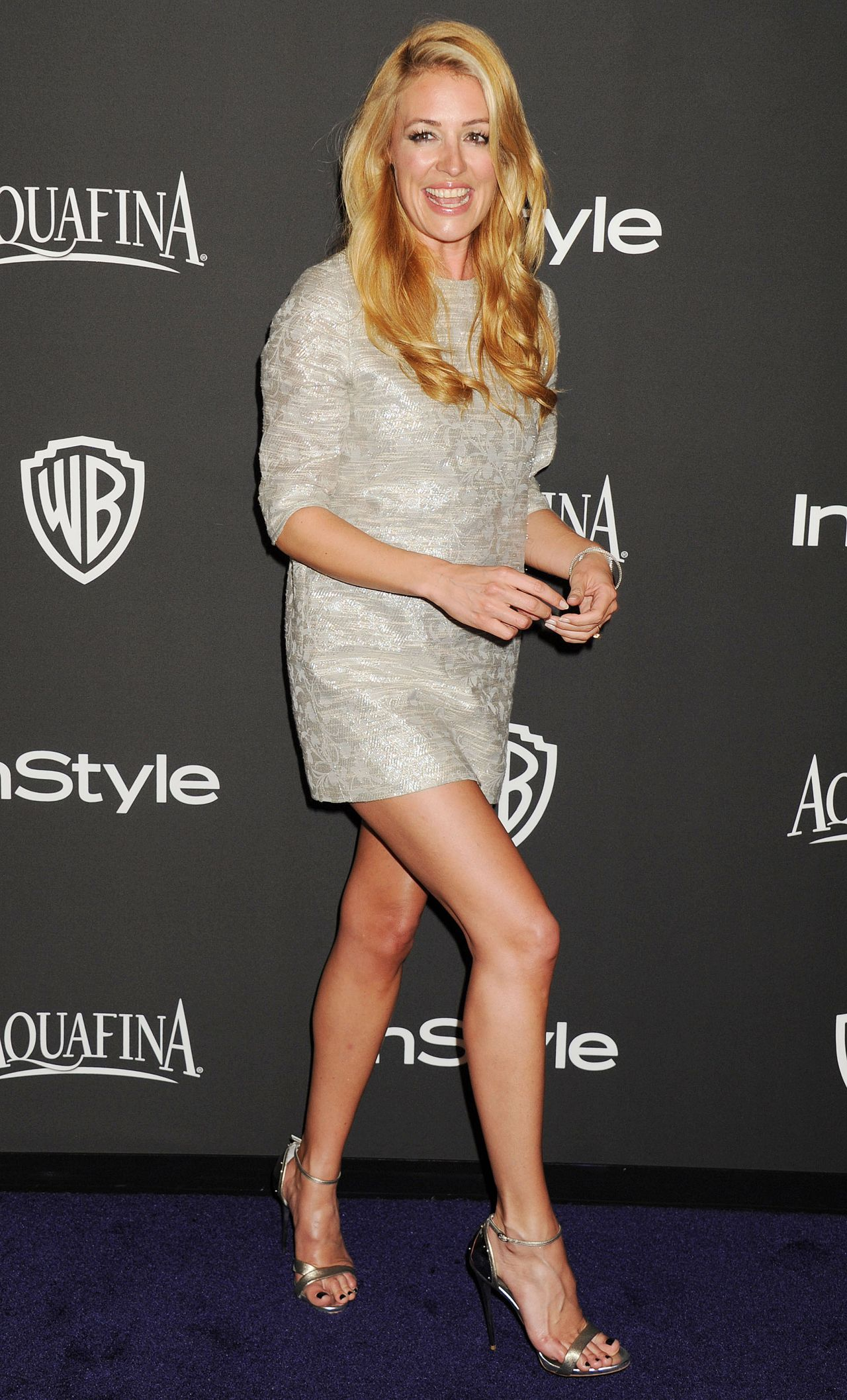 Cat Deeley – InStyle and Warner Bros 2015 Golden Globes Party
