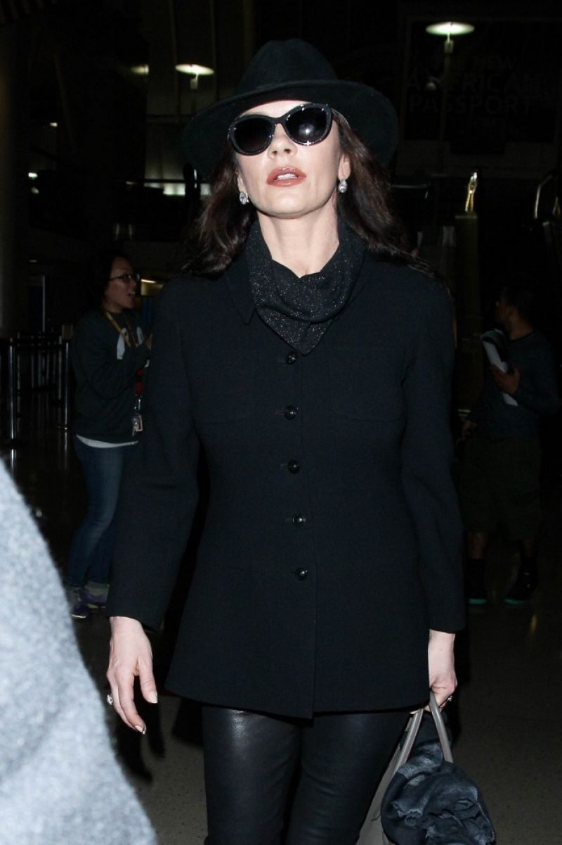 Catherine Zeta Jones - at LAX Airport, January 2015