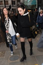 Charli XCX Style - Outside the Capital Radio Studios in London, January 2015