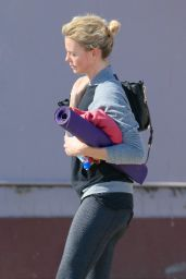 Charlize Theron - Leaving Yoga Class - January 2015