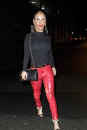Chelsee Healey Night Out Style - Leaving The San Carlo Restaurant & The Neighbourhood Bar In Manchester