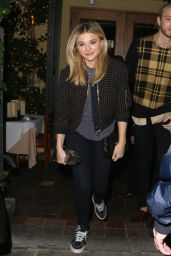Chloe Moretz Casual Style - Leaving Ago Restaurant in West Hollywood, January 2015