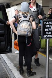 Chloe Moretz - Departing LAX Airport, Jan. 2015