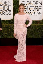 Chrissy Teigen – 2015 Golden Globe Awards in Beverly Hills