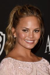 Chrissy Teigen – InStyle and Warner Bros 2015 Golden Globes Party