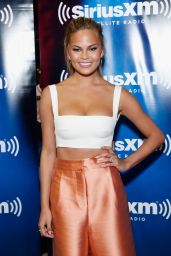 Chrissy Teigen - SiriusXM at Super Bowl XLIX Radio Row in Phoenix, January 2015