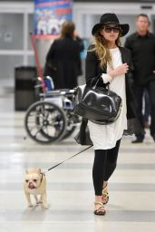 Chrissy Teigen - Walking Her Dog at JFK Airport in New York City - Jan 2015
