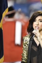 Christina Grimmie - Sings The National Anthem at Sun Life Stadium in Miami - Dec. 2014