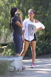 Christina Milian Booty in Shorts at Runyon Canyon Park in Los Angeles, Jan. 2015
