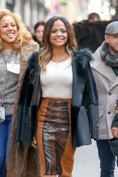 Christina Milian is Stylish - Out in New York City, January 2015