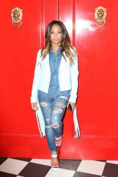Christina Milian is Stylish - The Chester restaurant in New York City, January 2015