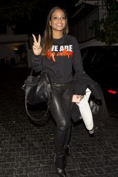 Christina Milian Night Out Style - at the Chateau Marmont in West Hollywood, January 2015