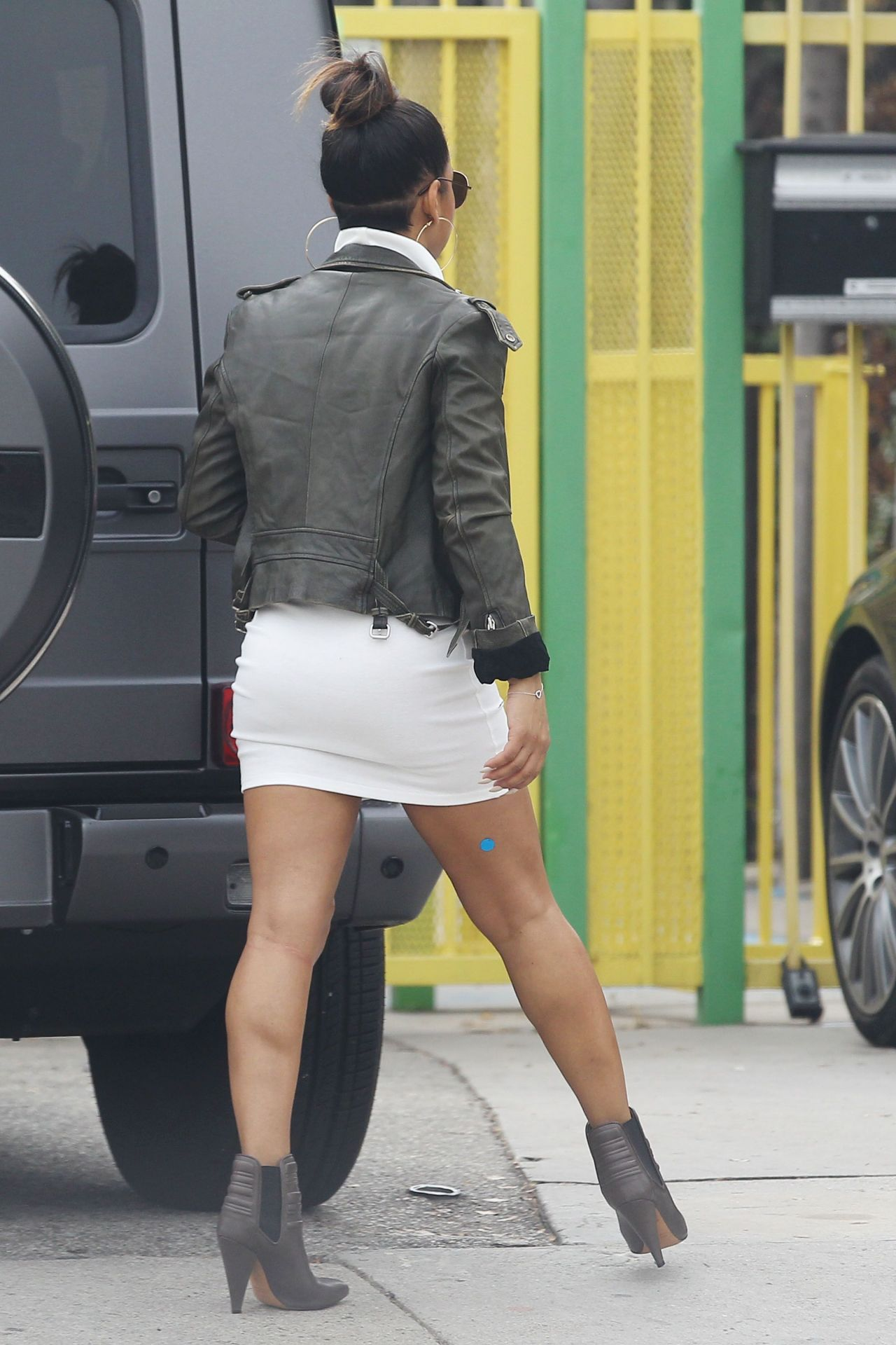 Christina Milian Shows Off Her Legs Out In New York City