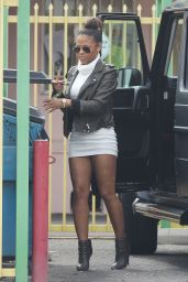 Christina Milian Shows Off Her Legs - Out in New York City, January 2015