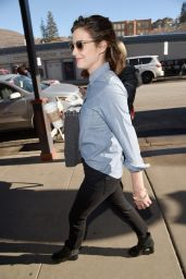 Cobie Smulders Street Style - Out in Park City - January 2015