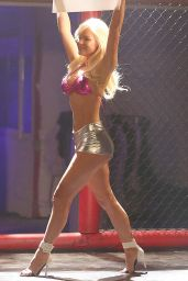 Colleen Shannon - Sports A Metallic Bra And Hot Pants - Photoshoot for 138 Water