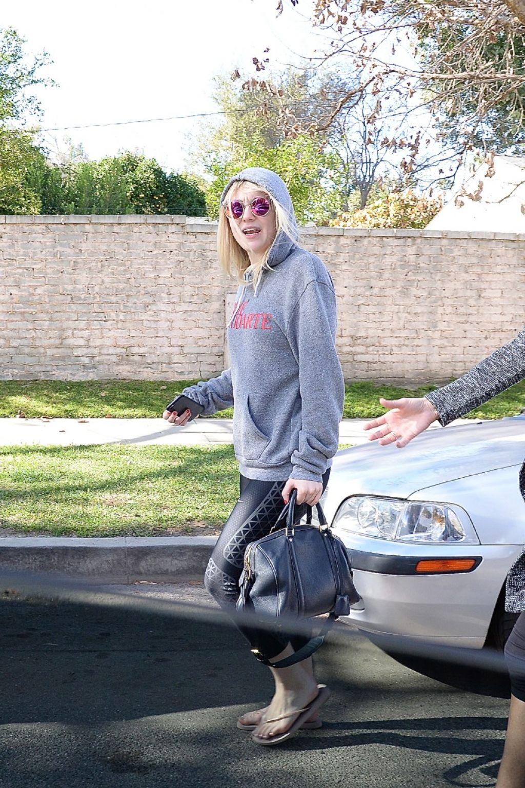 Dakota Fanning Leaving A Pilates Class In Los Angeles January 2015