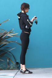 Dakota Johnson Booty in Tights - Outside a Pilates Class in West Hollywood, Jan. 2015