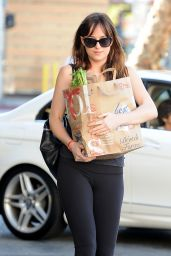 Dakota Johnson Booty in Tights - Shopping in LA, January 2015