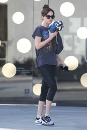 Dakota Johnson in Leggings - Out in Los Angeles, Jan. 2015