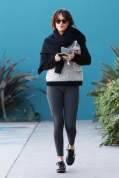 Dakota Johnson in Leggings - Out in West Hollywood - January 2015