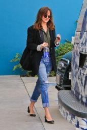 Dakota Johnson in Ripped Jeans - Out in West Hollywood, Jan 2015
