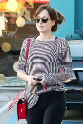 Dakota Johnson - Leaving Pilates Classes in West Hollywood, Jan. 2015