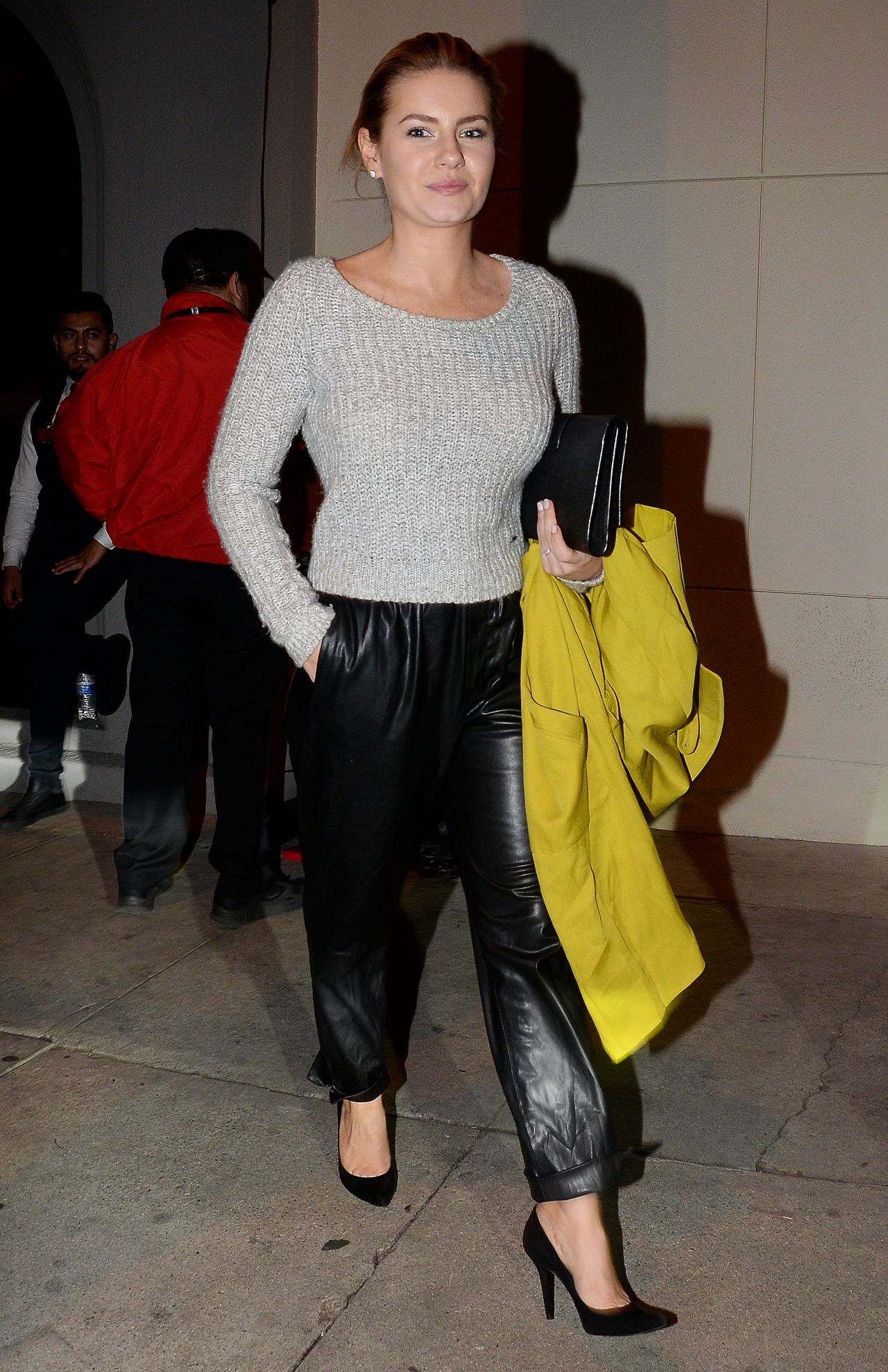 Elisha Cuthbert Night Out Style - Leaving Craig