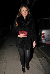 Elizabeth Hurley - Leaving Her Home in London, January 2015