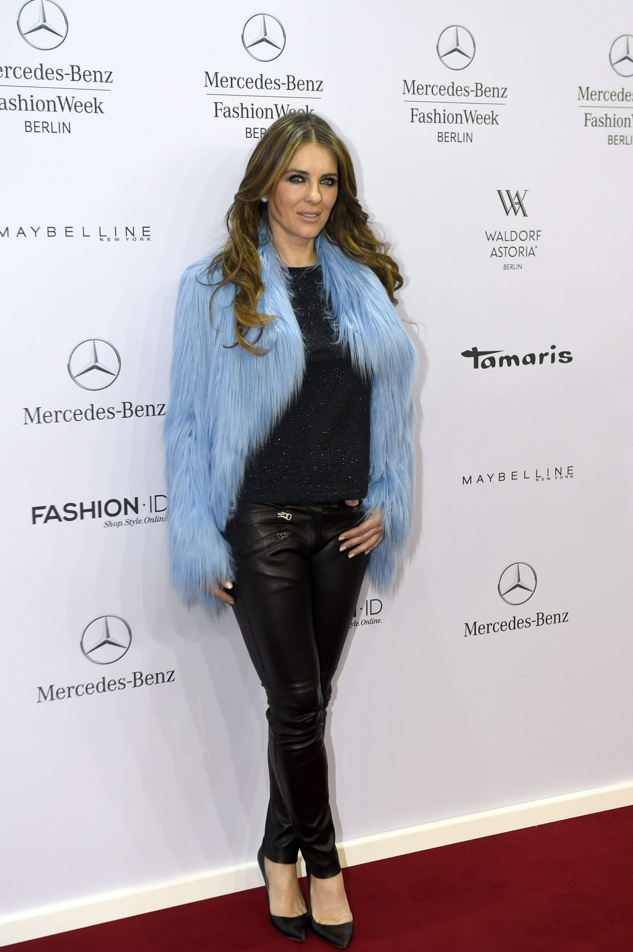 Elizabeth Hurley Style - Marc Cain Show at the Mercedes-Benz Fashion Week January 2015